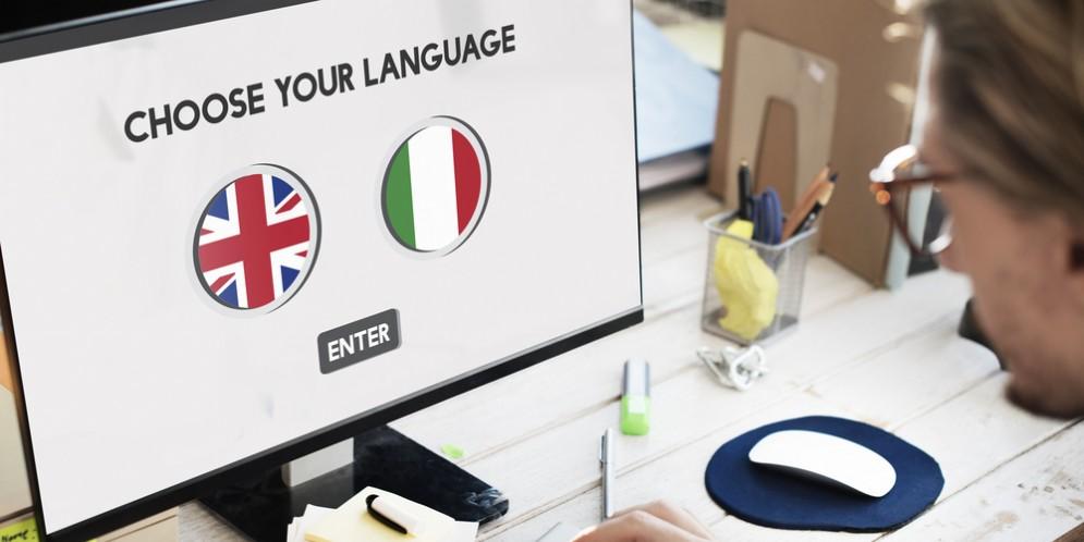 Tastiera di computer con bandiera della Spagna