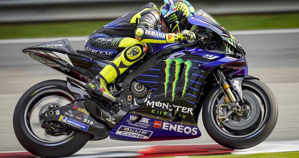 Valentino Rossi sulla Yamaha