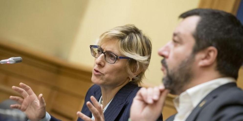 Giulia Bongiorno e Matteo Salvini