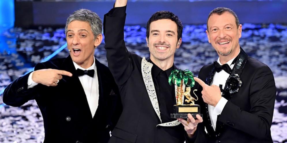 Fiorello, Diodato e Amadeus al Festival di Sanremo 2020