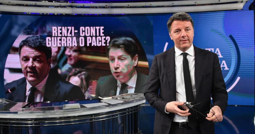 Matteo Renzi, leader di Italia Viva negli studi di Porta a Porta
