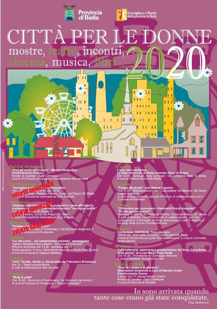 Locandina Città per le donne 2020