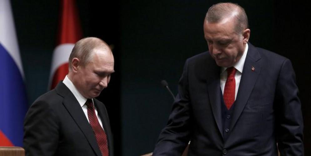 Vladimir Putin con Recep Tayyip Erdogan