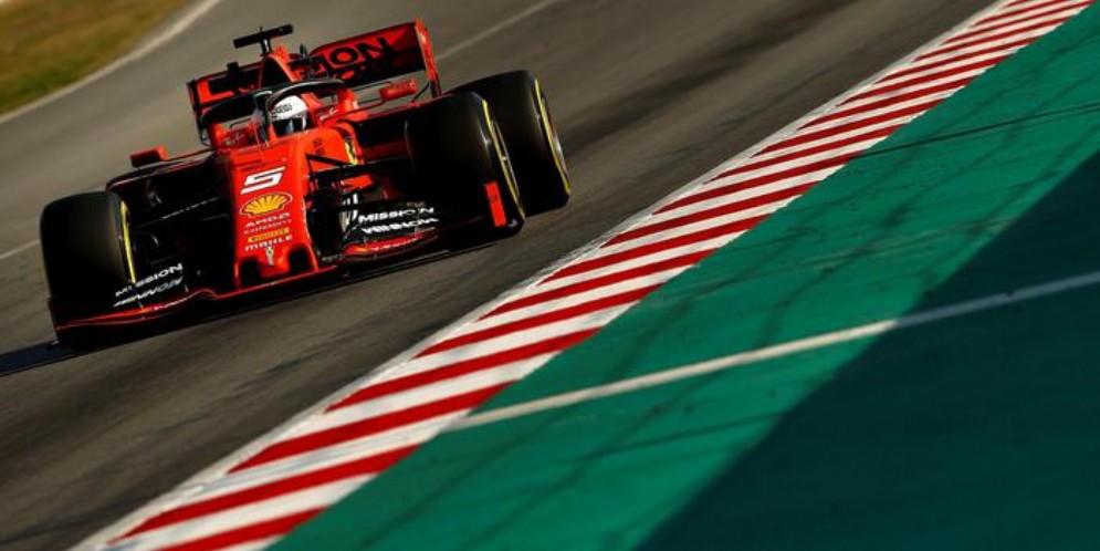 La Ferrari n. 5 di Sebastian Vettel