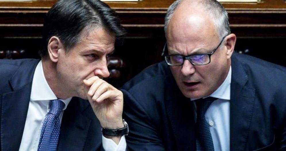 Il Premier Giuseppe Conte con il Ministro, Roberto Gualtieri