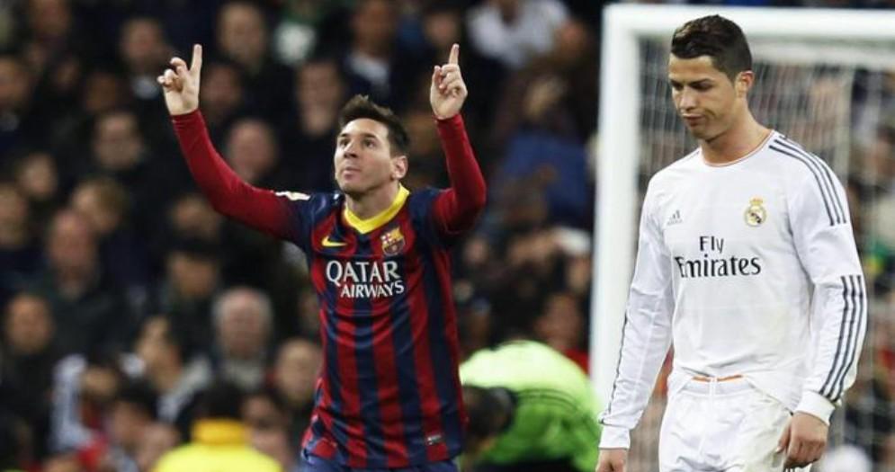 Lionel Messi e Cristiano Ronaldo con la maglia del Real Madrid