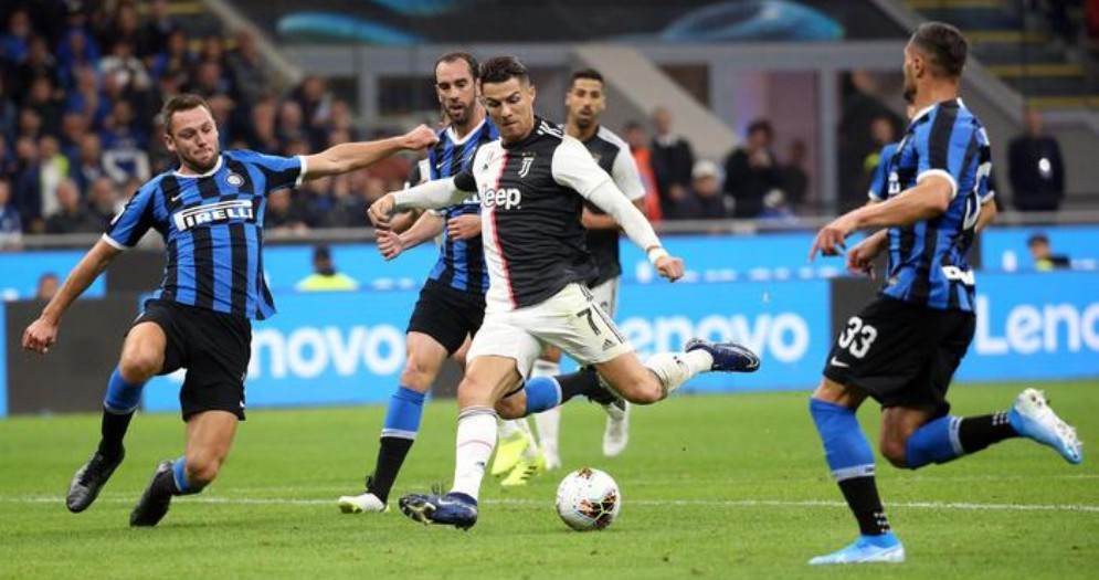 Un azione di Juventus - Inter del 2020