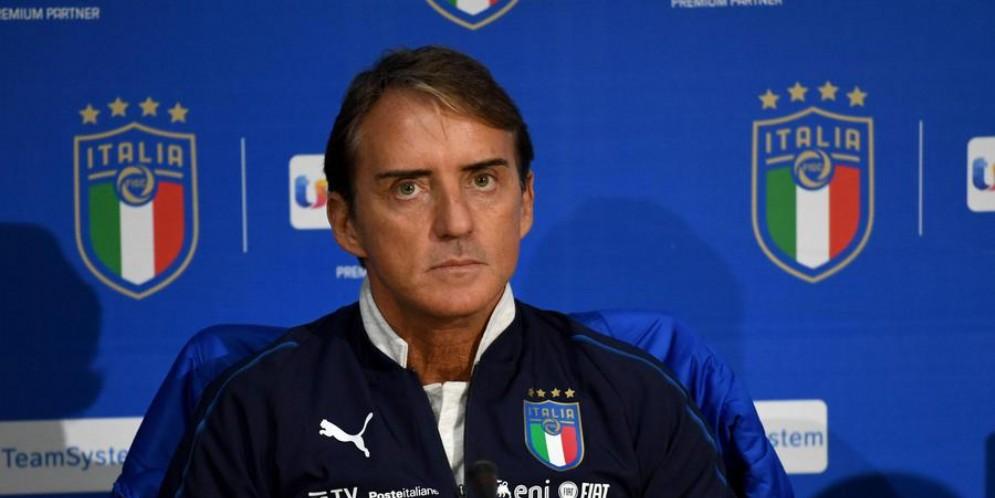 Il tecnico della nazionale, Roberto Mancini