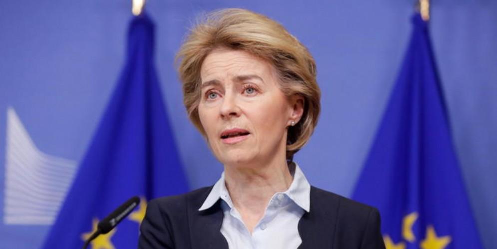 Il Presidente della Commissione europea, Ursula von der Leyen