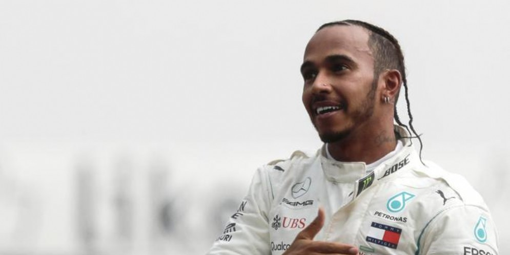 Il pilota inglese della Merceds, Lewis Hamilton