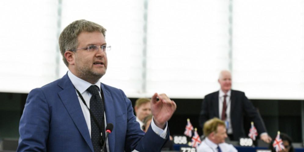 Carlo Fidanza, capodelegazione di Fratelli d'Italia al parlamento europeo