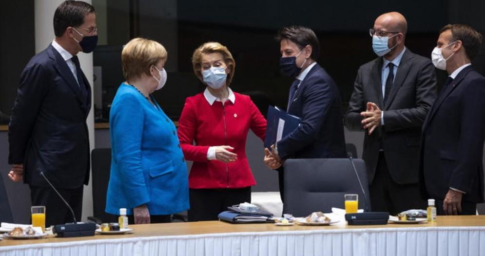 Un momento del Consiglio europeo