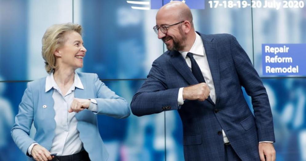 Ursula von der Leyer e Charles Michel