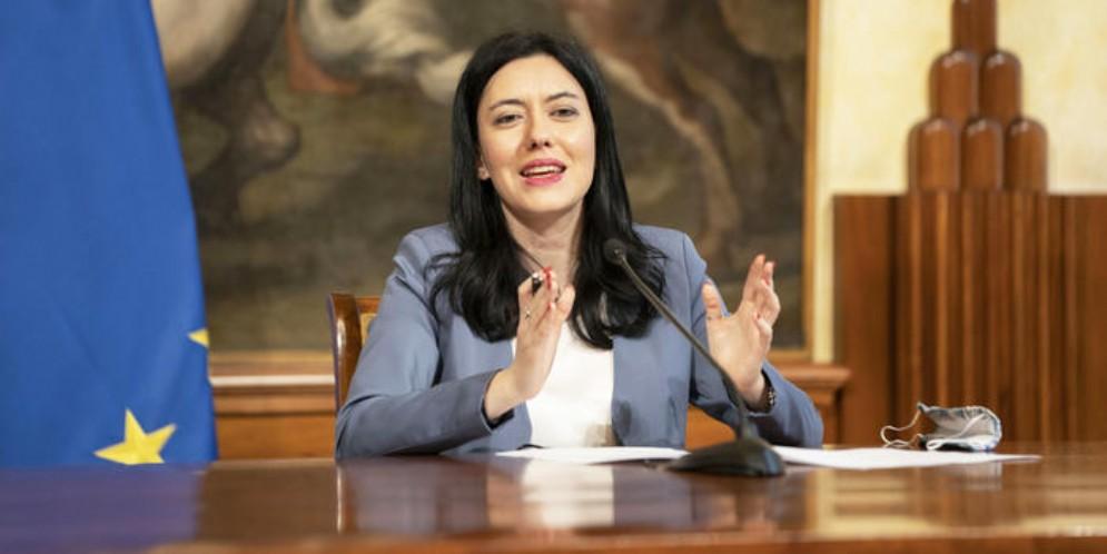 Il Ministro dell'Istruzione, Lucia Azzolina
