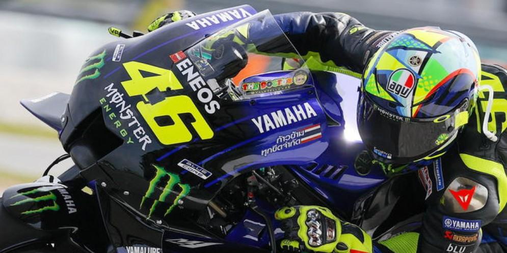 Il pilota della Yamaha, Valentino Rossi