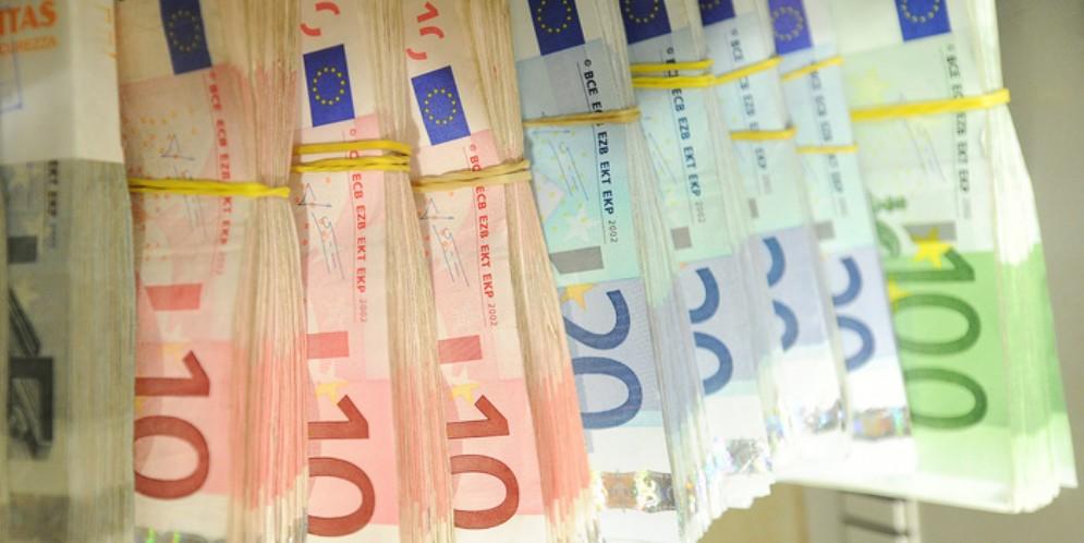 Banconote in Euro di diversi tagli