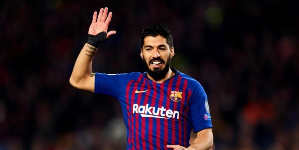 Luis Suarez con la maglia del Barcellona