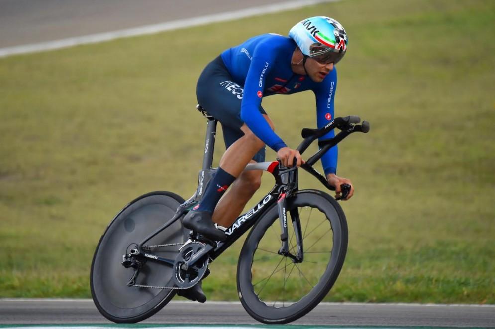 21 ore fa Giornale di Brescia Filippo Ganna, vincitore della cronometro ai Mondiali di ciclismo di Imola