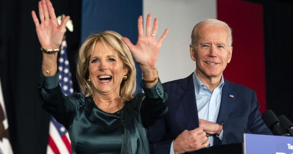 Jill Biden con il marito Joe