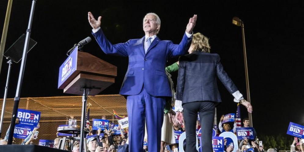 Joe BIDEN durante un comizio elettorale