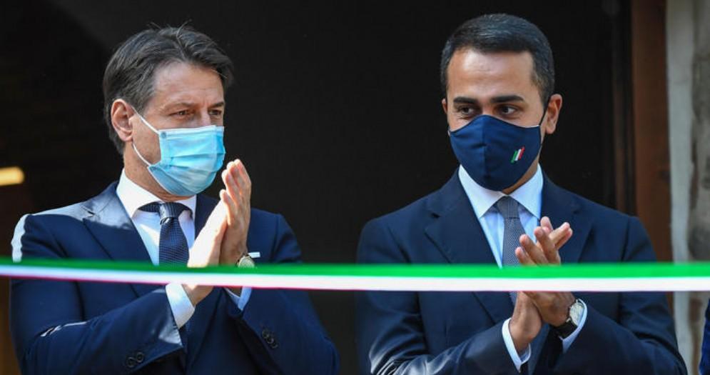 Giuseppe Conte con Luigi Di Maio