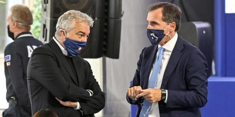 Domenico Arcuri con il Ministro Francesco Boccia