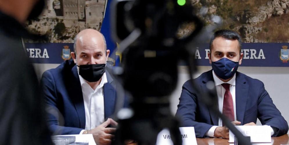 Vito Crimi e Luigi Di Maio