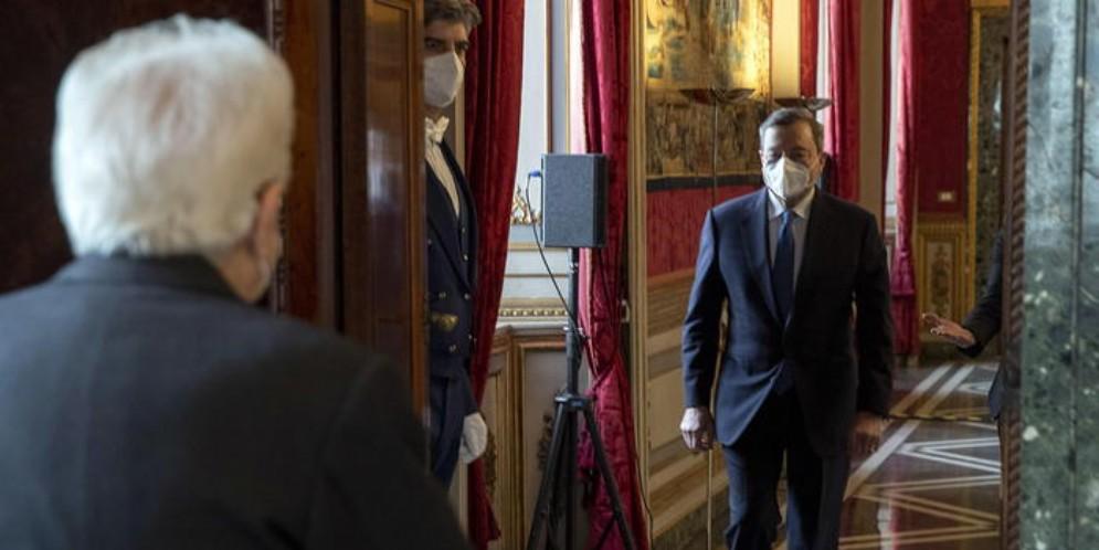 L'incontro al Quirinale tra Sergio Mattarella e Mario Draghi
