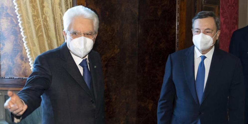 Sergio Mattarella e Mario Draghi al Quirinale
