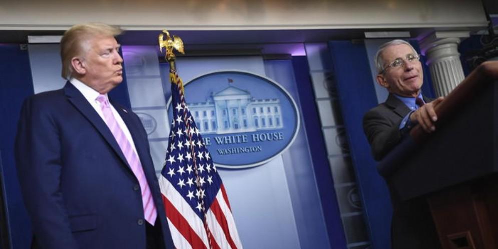 Donald Trump e Anthony Fauci
