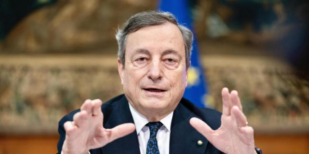Il Presidente del Consiglio, Mario Draghi