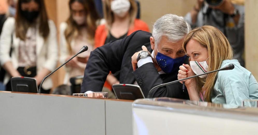 Antonio Tajani e Giorgia Meloni