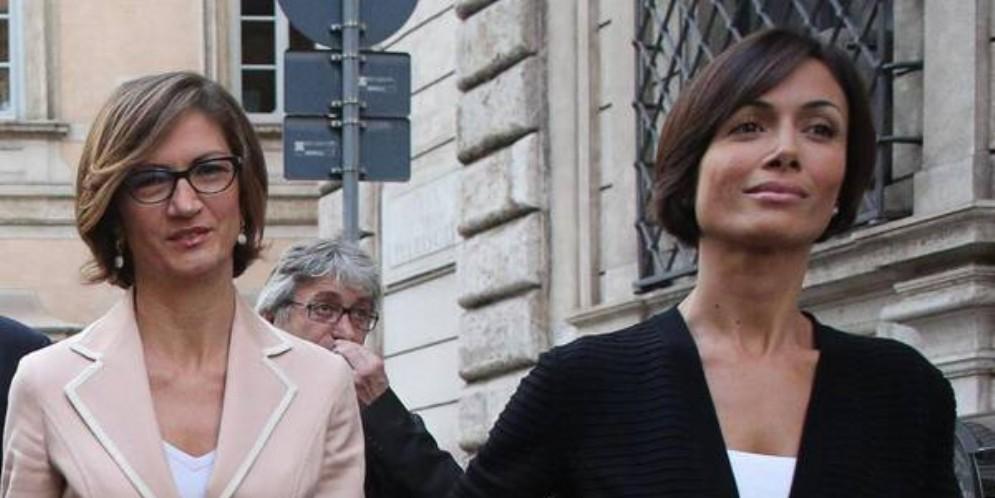 I Ministri Mariastella Gelmini e Mara Carfagna