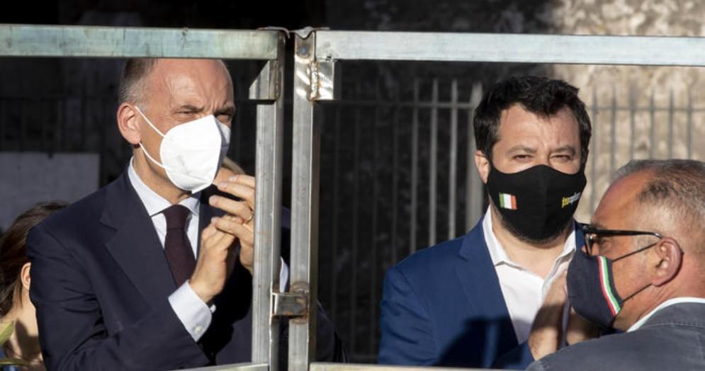 Enrico Letta e Matteo Salvini