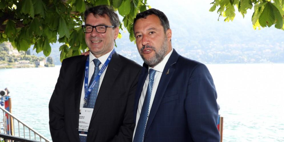 Giancarlo Giorgetti e Matteo Salvini