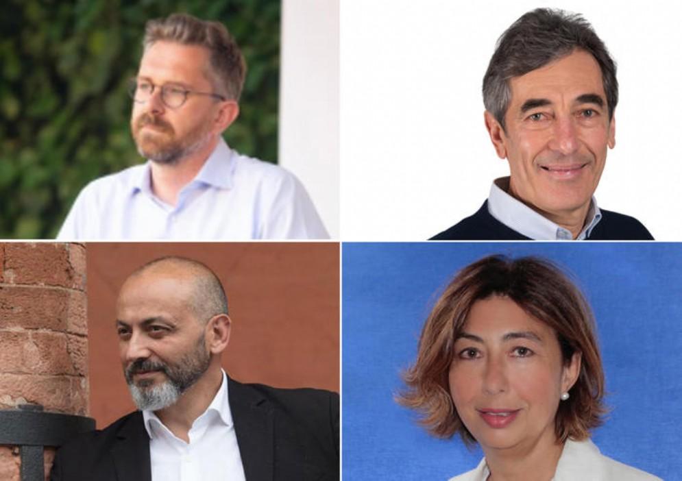 Matteo Lepore, Fabio Battistini, Stefano Sermenghi e Dora Palumbo