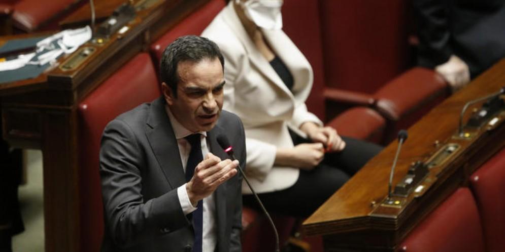 Roberto Occhiuto, candidato del centrodestra, presidente dei deputati di Forza Italia