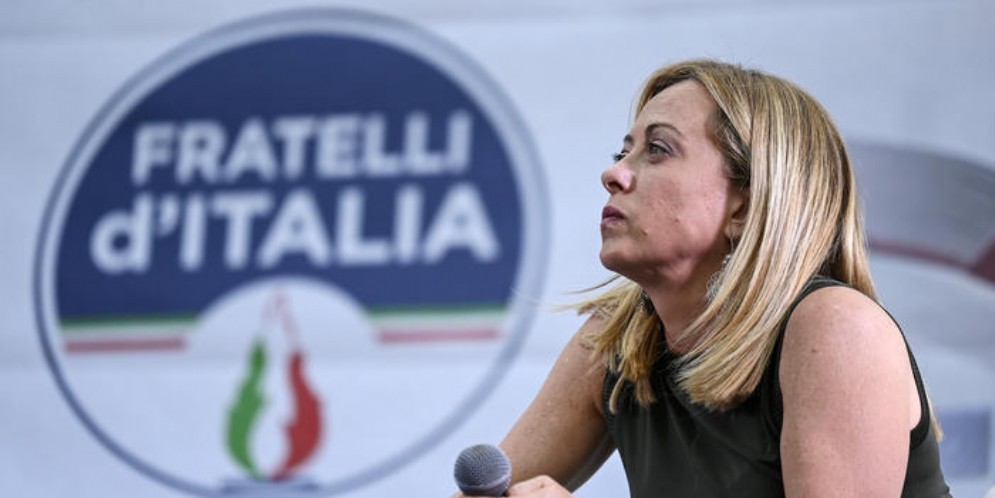Il leader di Fratelli d'Italia, Giorgia Meloni