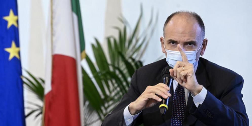 Il Segretario del PD, Enrico Letta